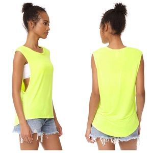 We The Free The It Muscle Tank Small Yellow